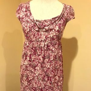 And Taylor loft purple flowered dress